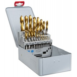 Drill Bit Set 25 1-13mm/ HSS/TIN coating